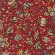 Moda Madam Rouge by French General - 5681 - Stylised Floral on Red  - 13770 11 - Cotton Fabric